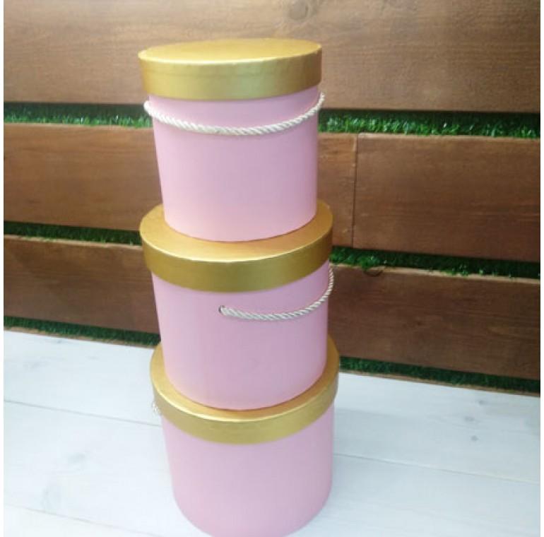Шляпные коробки розовые