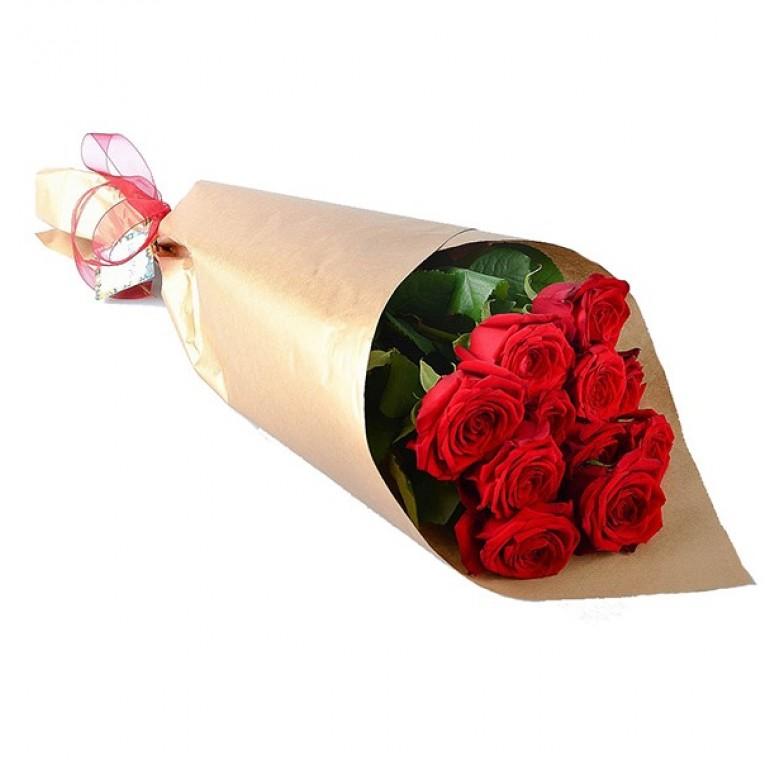 Букет  11 Роз (Ред Наоми 60см)