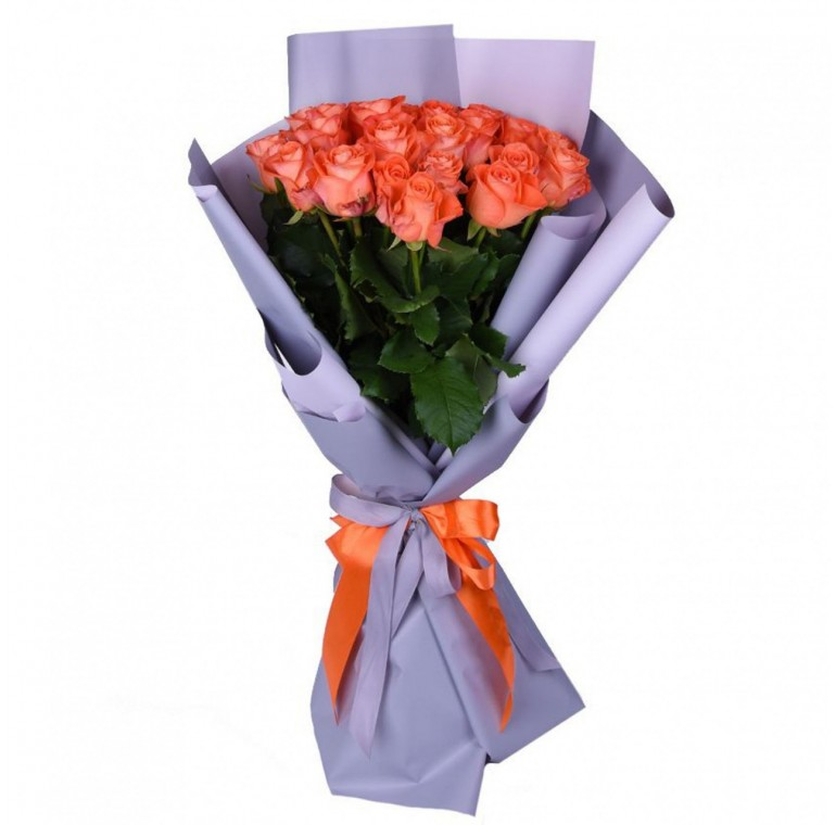 Букет 21 роза (Анна Карина 60см)