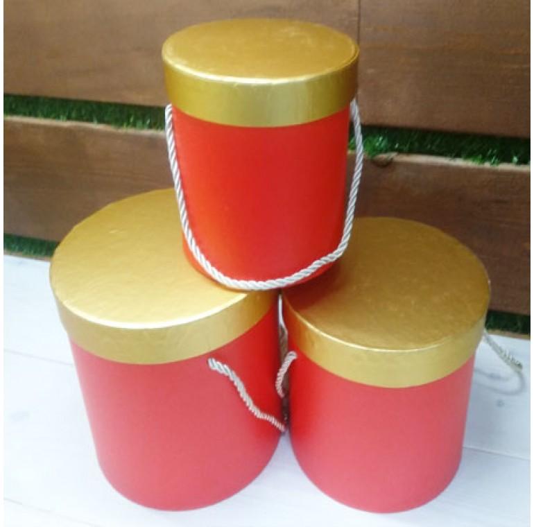 Шляпные коробки красные