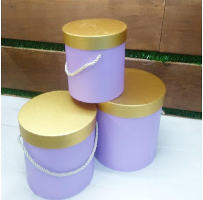 Шляпные коробки фиолетовые