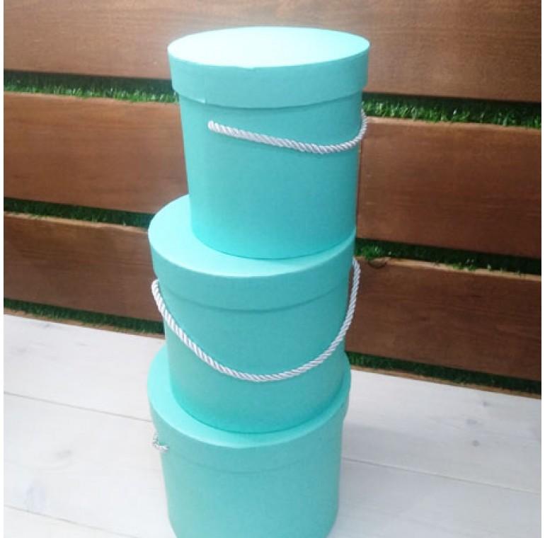 Шляпные коробки голубые