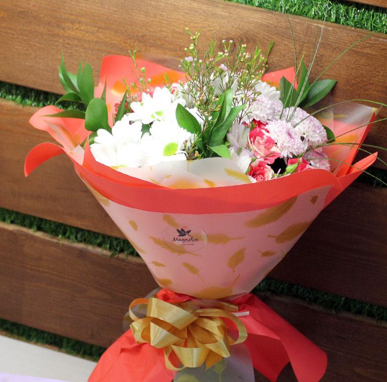 Хризантемы в букете